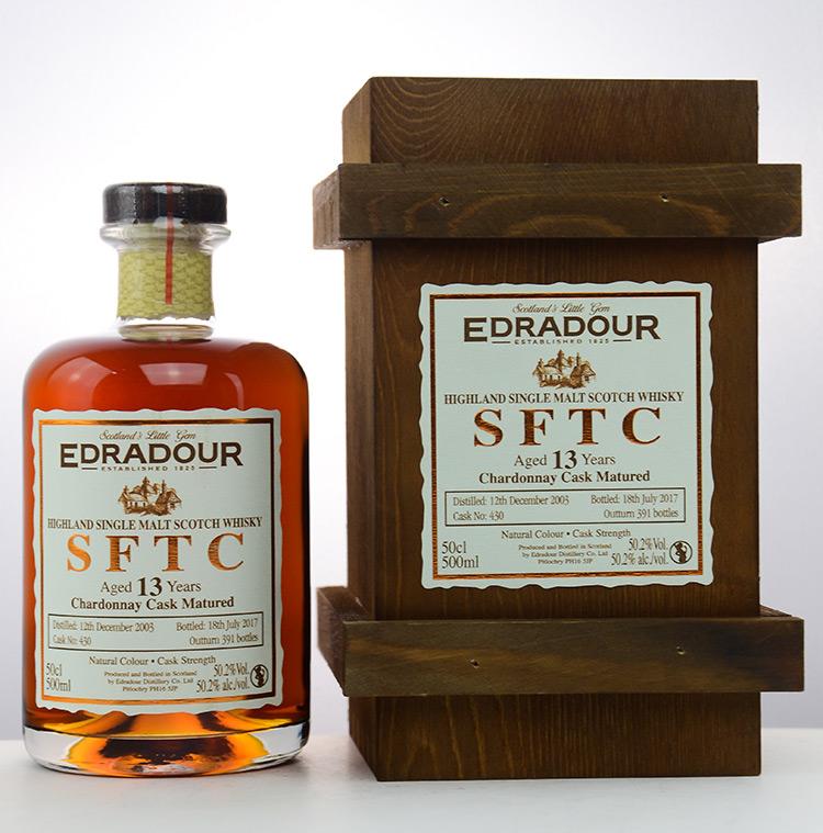 Edradour 13 Jahre SFTC Chardonnay Cask