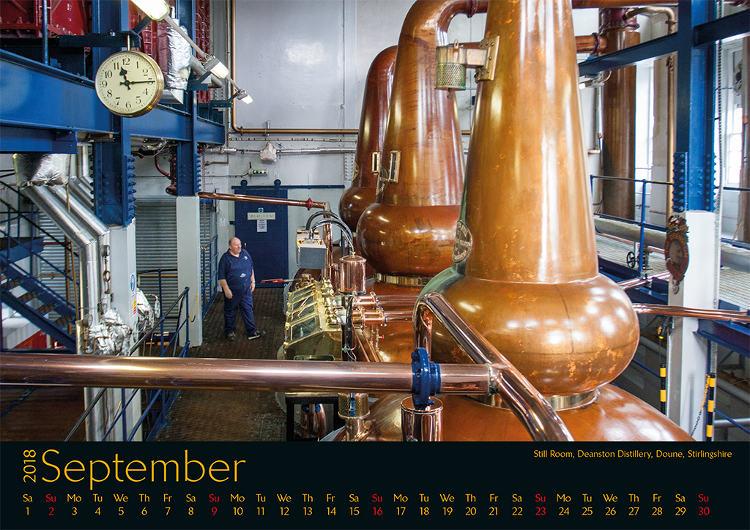 Kalender Schottland September 2018