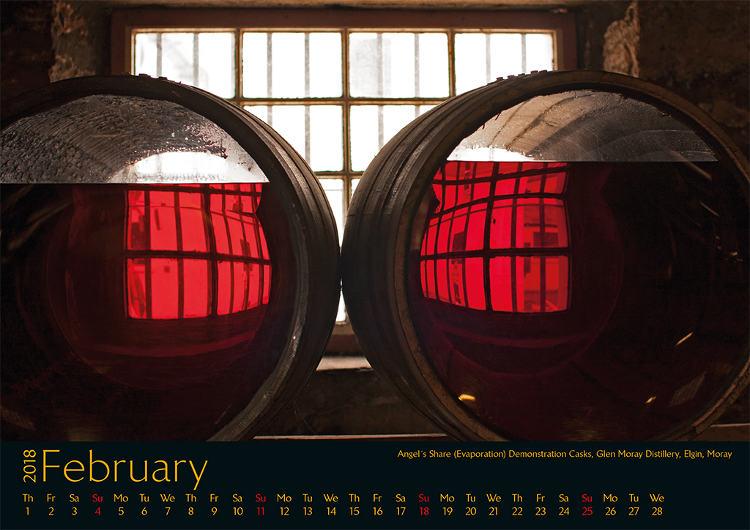 Kalender Schottland Februar 2018